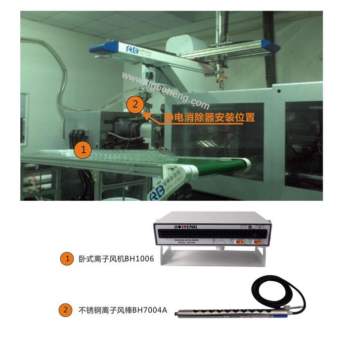 自动化机械手注塑机静电消除